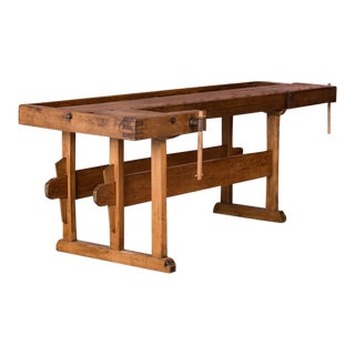 1900s Traditional European Carpenter's Workbench For Sale