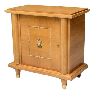 French Modern Sycamore and Bronze-Mounted Bar Cabinet by Maison Mercier Freres For Sale
