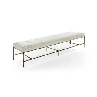 Extra Long Architectural Bronze Bench in Chenille Preview