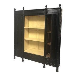 Antique Faux Bamboo Black Display For Sale
