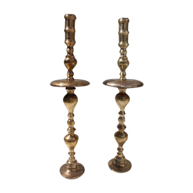 Hollywood Regency Floor Candle Holders - A Pair - Image 1 of 8