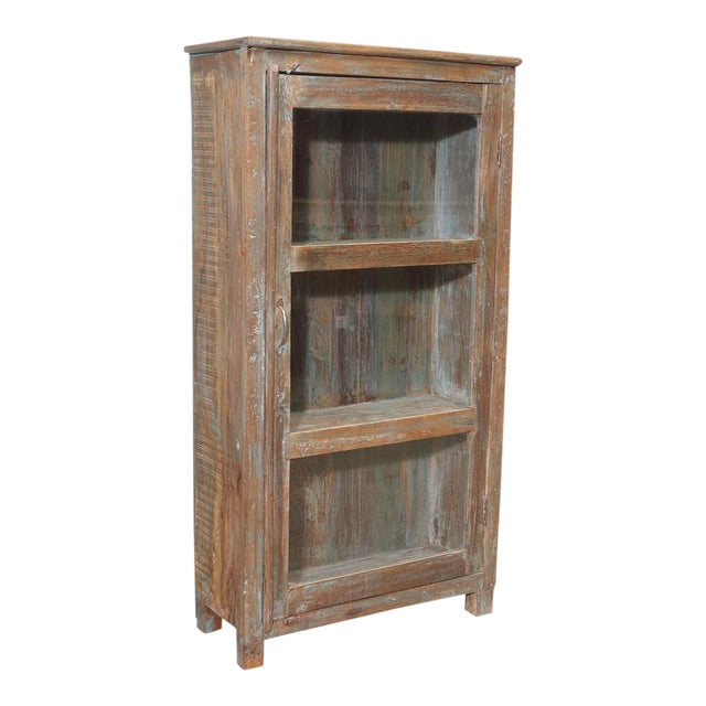 Country British Colonial Glass Cabinet For Sale - Image 3 of 5