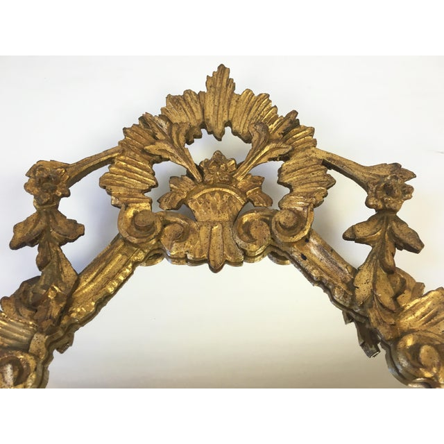 Antique Italian Hand-Carved Gilt Wood Mirror - Image 6 of 10