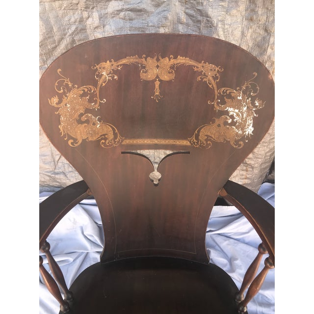 Late 19th Century 1900s Vintage Victorian Rocking Chair For Sale - Image 5 of 7