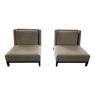 Holly Hunt Christian Liaigre Upholstered Latin Chairs - a Pair For Sale
