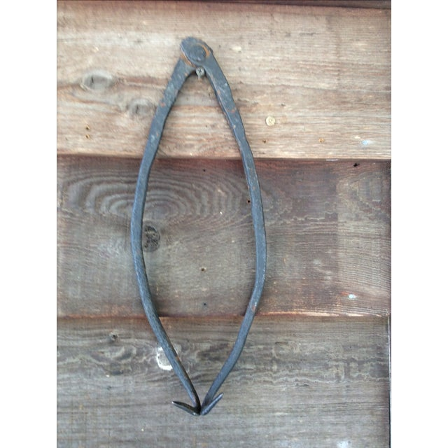 Primitive Cast Iron Tongs - Image 2 of 8