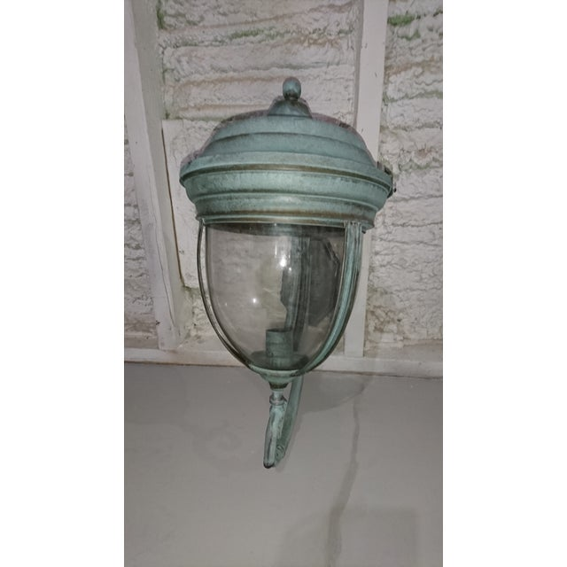 Outdoor Handcrafted Solid Brass Lantern - Image 3 of 9