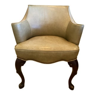 21st Century Vintage Cabot Wrenn Leather Arm Chair For Sale