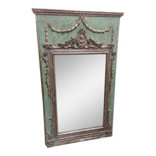 Late 18th Century Italian Green & Gold Mirror For Sale