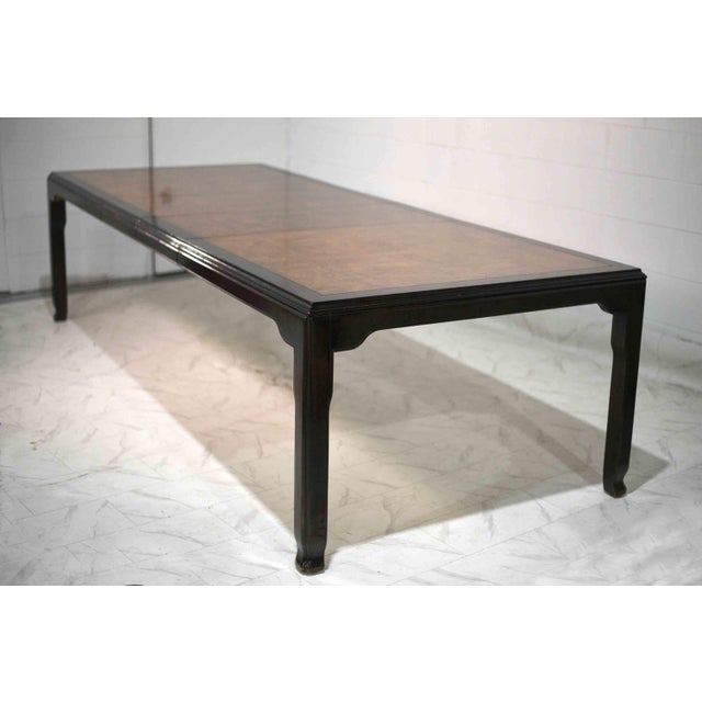 We love this fine asian inspired dining table from Century Furniture . Its crafted in the finest burlwood and accented...