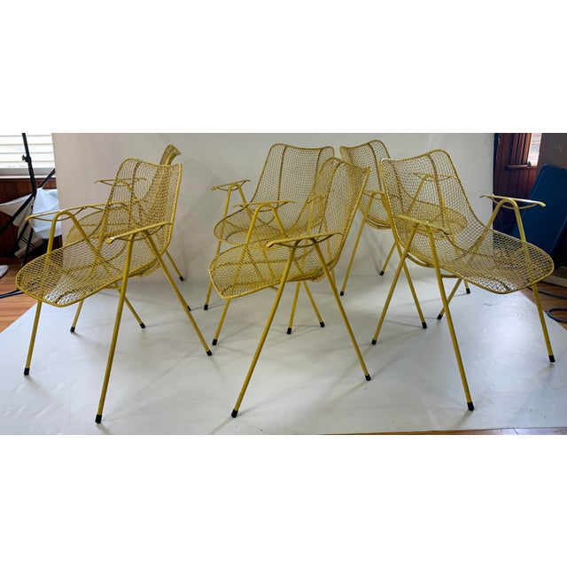 Russell Woodard Mid-Century Modern Sculptura Outdoor Dining Chairs - Set of 6 For Sale - Image 13 of 13