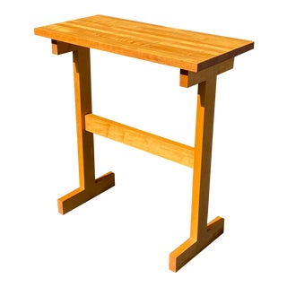 Late 20th Century Solid Maple Butcher Block Standing Desk For Sale