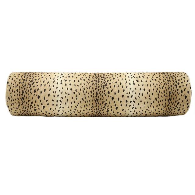 Antelope Bolster and Oxblood Velvet Pillows - Set of 4 For Sale - Image 4 of 7