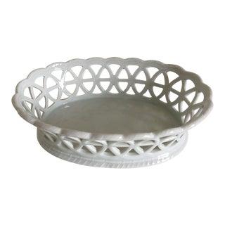 Porcelain Lacey Fruit or Serving Basket by Furstenberg