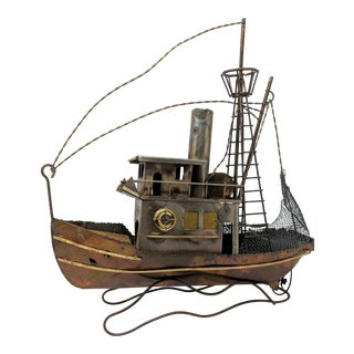 1950s Mid-Century Modern Fishing Boat Model For Sale