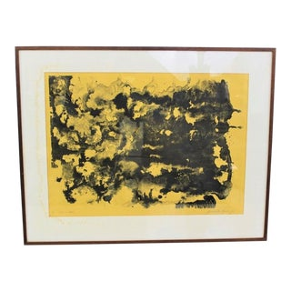 Abstract Yellow Painting Medium Size 1967 For Sale