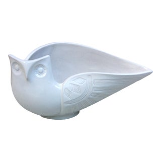 Mid-Century Modern Vintage Owl Bowl by Jonathan Adler For Sale