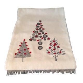 Vintage Scandinavian Wool Table Runner