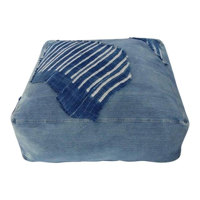 Indigo Floor Cushion Ottoman - Image 1 of 6