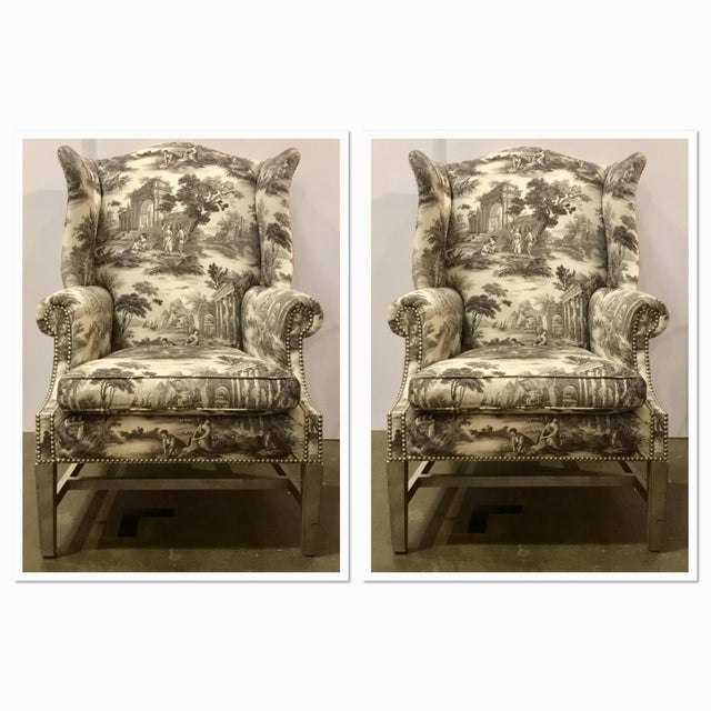 Currey & Co. Kingswood Chairs - A Pair For Sale - Image 9 of 9