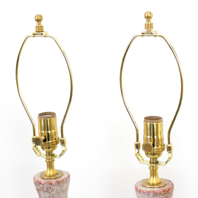 Mid-Century Modern Pottery & Lucite Lamps - a Pair - Image 5 of 6