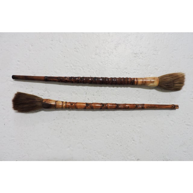 Anonymous Large Chinese Calligraphy Brushes For Sale - Image 4 of 4