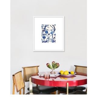 """Medium """"Flowers and Wine Indigo"""" Print by Leslie Weaver, 20"""" X 23"""" Preview"""