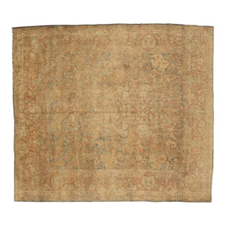 """Pasargad NY Antique Hand Knotted Sarouk Rug - 8'8"""" X 9'10"""" For Sale"""