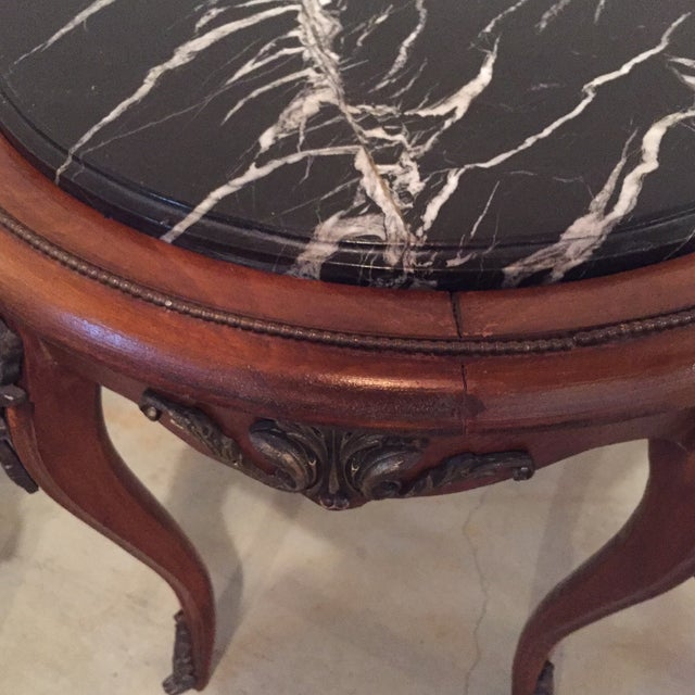 Antique French Side Tables - A Pair - Image 4 of 9