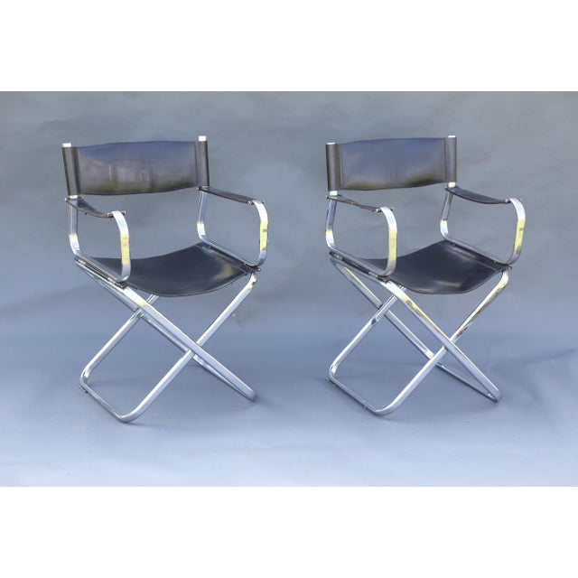 Arrben Italian Leather & Chrome Chairs - A Pair - Image 9 of 10