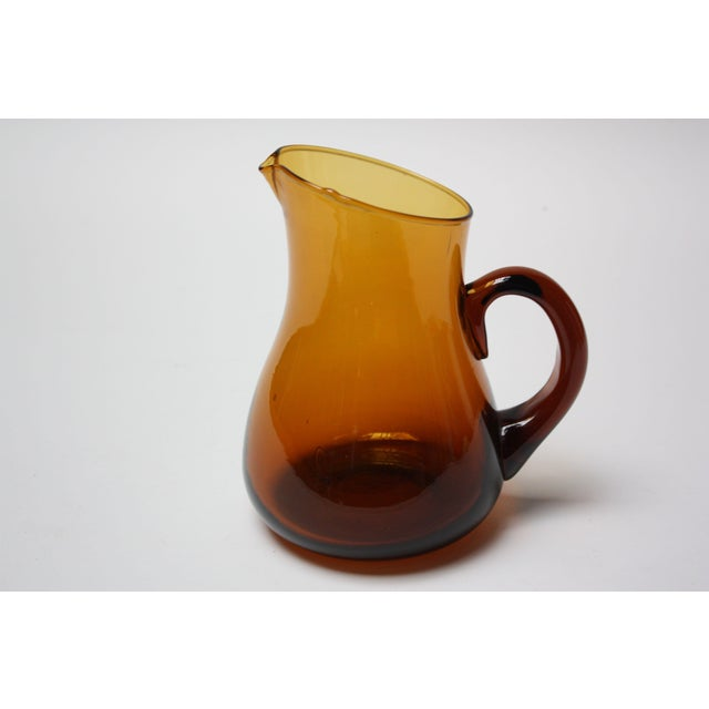 Brown Mid Century American Modern Brown Glass Pitcher / Creamer by Pilgrim For Sale - Image 8 of 8