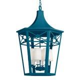 Image of Bennington Lantern, Blue Danube For Sale
