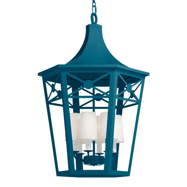 Bennington Lantern, Blue Danube For Sale