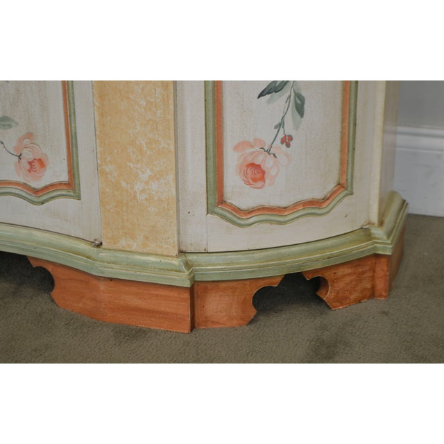 Italian Hand Painted Narrow Serpentine Console Cabinet For Sale - Image 10 of 13