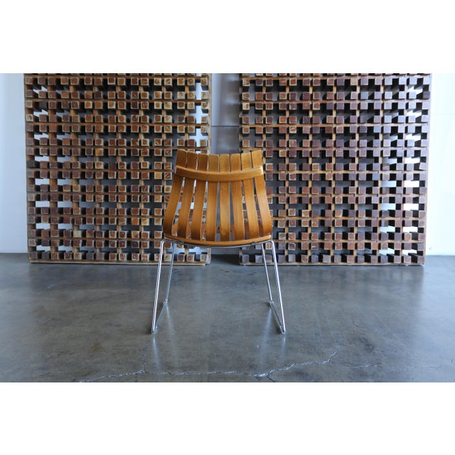 Brown 1960s Mid-Century Modern Hans Brattrud for Hove Dining Chairs - Set of 4 For Sale - Image 8 of 13