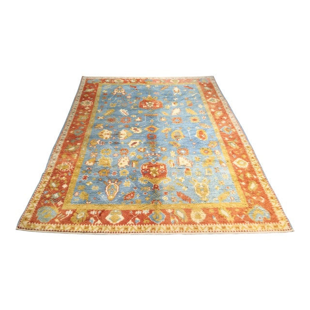 "Vintage Oushak Moroccan Area Rug - 5'7"" X 7'9"" - Image 1 of 6"