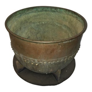 Antique Copper Chocolate Factory Vat For Sale