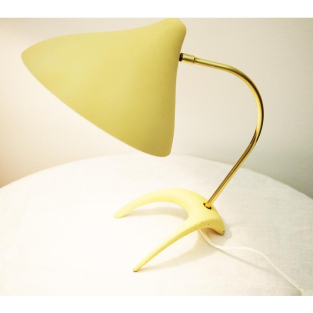 Brass Table lamp by Louis Kalff for Philips For Sale - Image 7 of 11