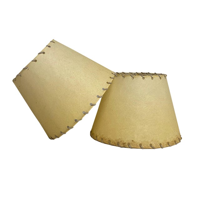 1960s Western Rawhide Lamp Shades - a Pair For Sale In Dallas - Image 6 of 6