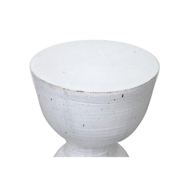 Large Tariki Ceramic Stool For Sale - Image 10 of 12