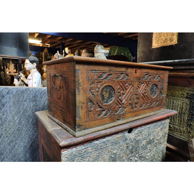Hand-carved wooden box from the Indonesian island of Madura.