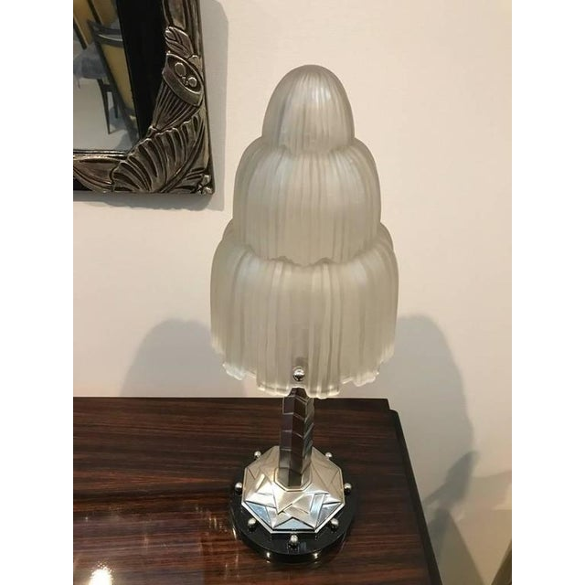 Sabino Signed French Art Deco Table Lamps with Marble Base - A Pair - Image 3 of 10