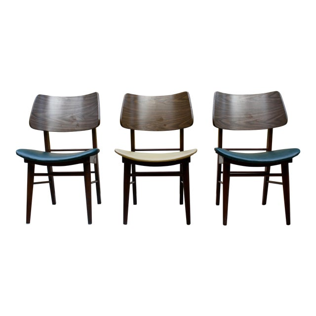 Mid-Century Modern Clam Shell Chairs - Set of 3 - Image 1 of 8