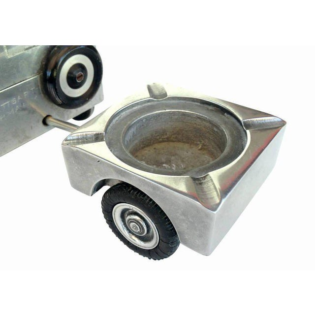 Hand Machined WWII Jeep Cigarette Case, Lighter and Ashtray Set - Image 8 of 10