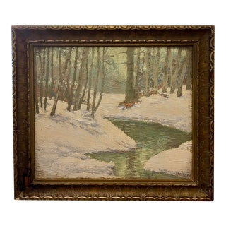 Original Plein Air Landscape Impressionist Oil Painting by Oscar Albrecht For Sale