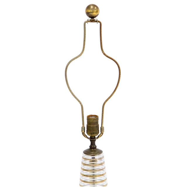 Mid Century Modern Glass Lamp - Image 3 of 8