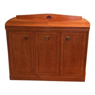 1990s Art Nouveau Hickory White Server For Sale