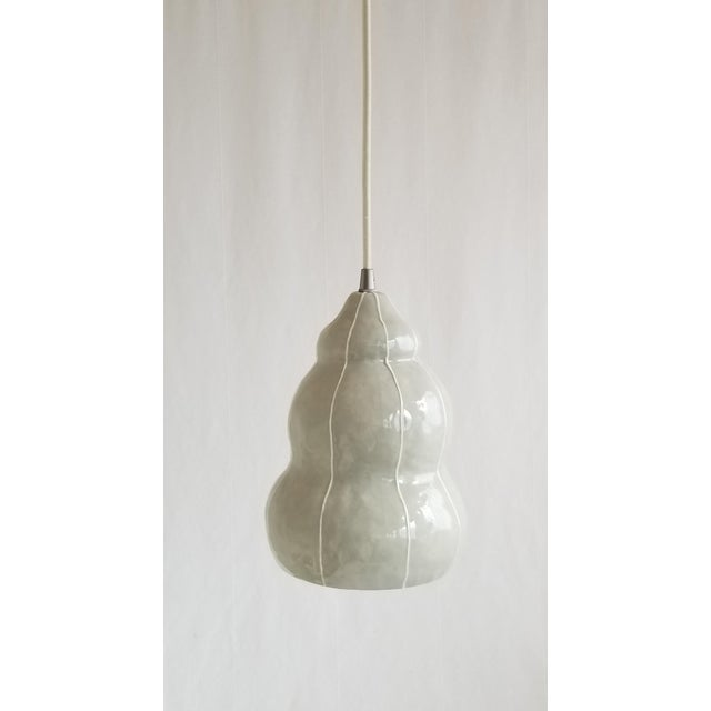 Modern Handmade kRI kRI Studio Ceramic Gray Pendant Light For Sale - Image 9 of 9