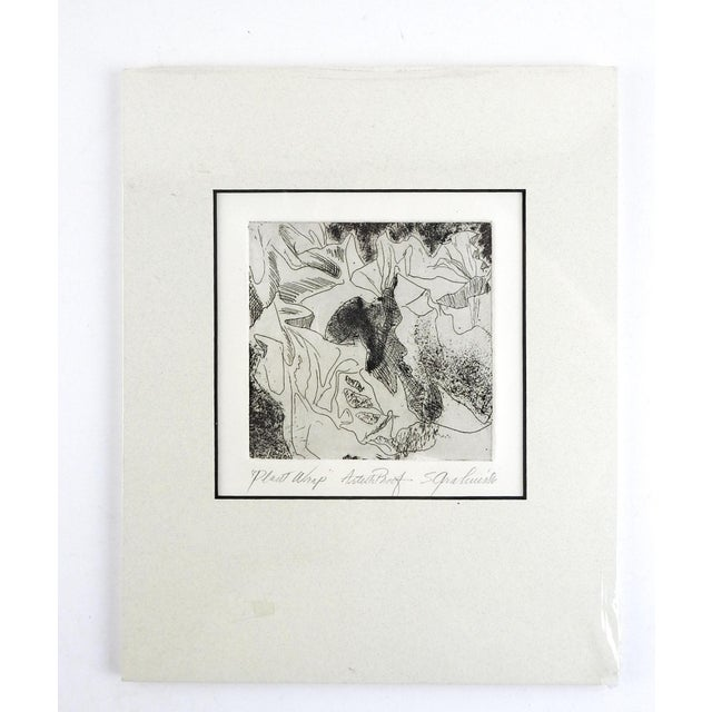 Contemporary Botanical Abstract Etching For Sale - Image 3 of 3