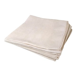 Vintage Mid-Century Modern Linen Table Napkins - Set of 6 For Sale